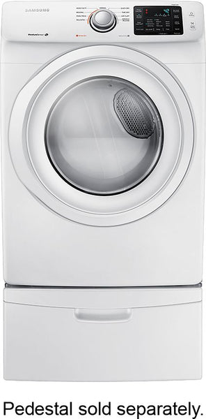 Samsung - 7.5 Cu. Ft. 9-Cycle Gas Dryer with Pedestal - White