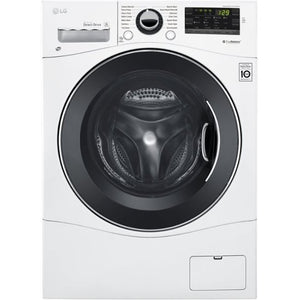 LG - 2.2 Cu. Ft. 14-Cycle Front-Loading Washer
