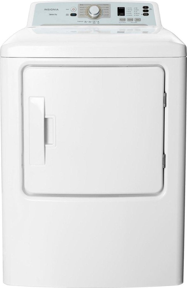 Insignia™ - 6.7 Cu. Ft. 10-Cycle Dryer - White