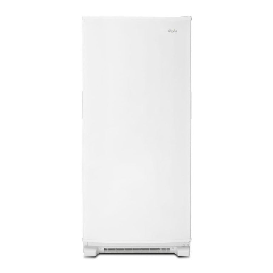Whirlpool 17.7-cu ft Frost-free Reversible Door Upright Freezer (White)