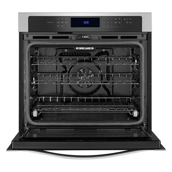 Whirlpool Self-cleaning Convection Single Electric Wall Oven (Stainless Steel)