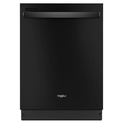 Whirlpool 51-Decibel Top Control 24-in Built-In Dishwasher (Black)