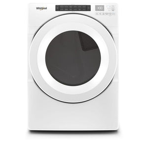 Whirlpool 7.4-cu ft Reversible side swing Stackable Electric Dryer (White)