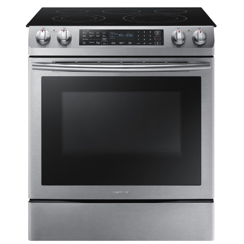 Samsung Smooth Surface 5-Element 5.8-cu ft Self-Cleaning True Convection Slide-in Electric Range