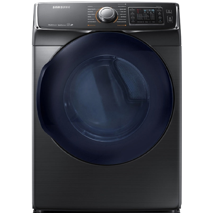 Samsung 7.5-cu ft Gas Dryer (Black Stainless Steel