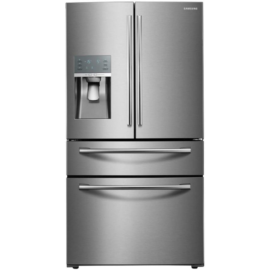 Samsung Food Showcase 27.8-cu ft 4-Door French Door Refrigerator with Ice Maker