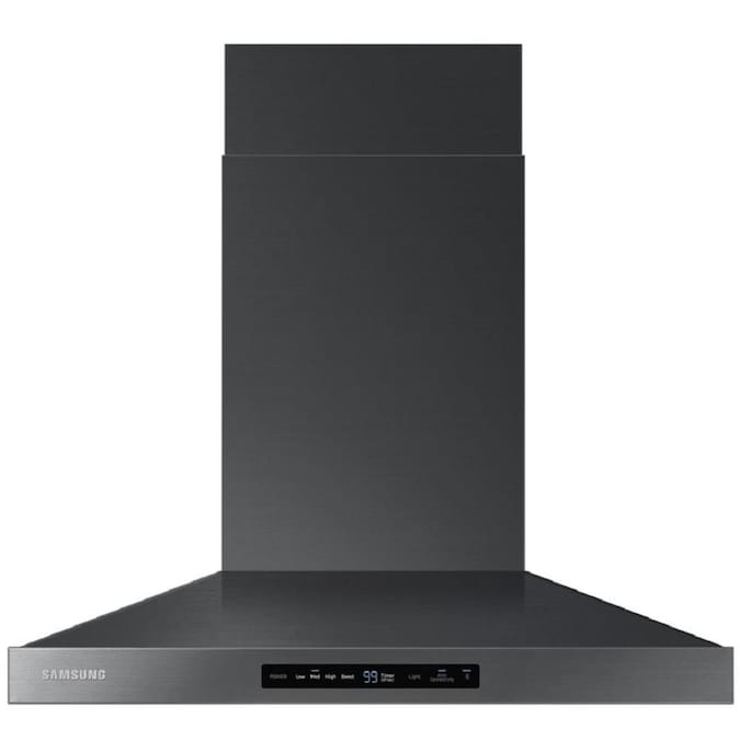 Samsung 30-in Ducted Fingerprint Resistant Black Stainless Steel Wall-Mounted Range Hood