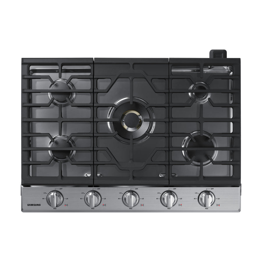 Samsung Premium Plus 5-Burner Gas Cooktop (Stainless Steel) (Common: 30-in; Actual: 30-in)