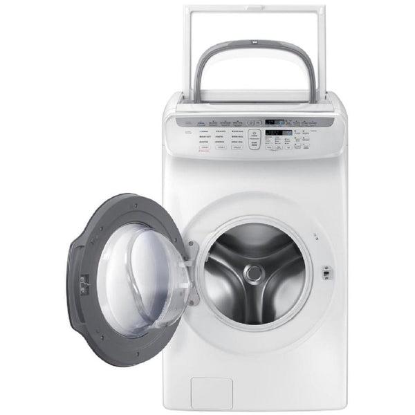 Samsung FlexWash 5.5 Total-cu ft High Efficiency Front-Load Washer (White) ENERGY STAR