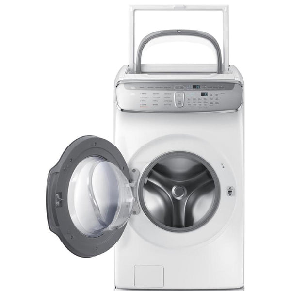 Samsung FlexWash 6 Total-cu ft High Efficiency Front-Load Washer (White)