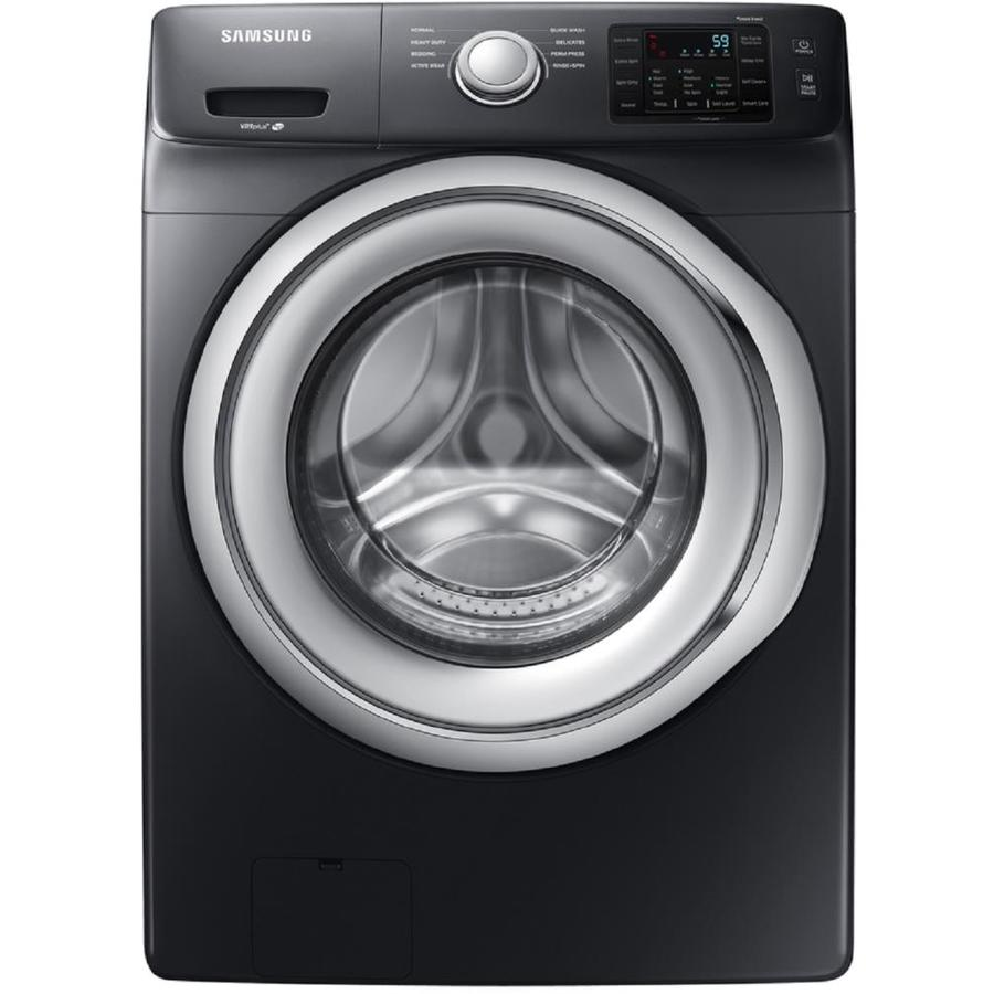 Samsung 4.5-cu ft High Efficiency Stackable Front-Load Washer (Black Stainless Steel)