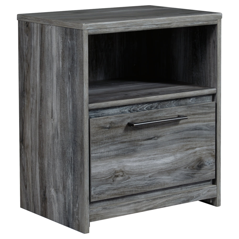 Baystorm One Drawer Nightstand w/ Plug Ins