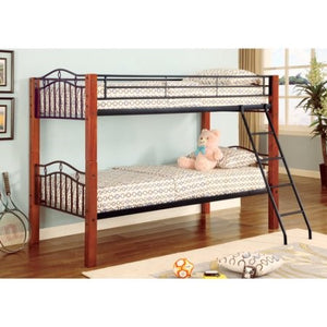 Rory Cinnamon & Black Twin Over Twin Bunk