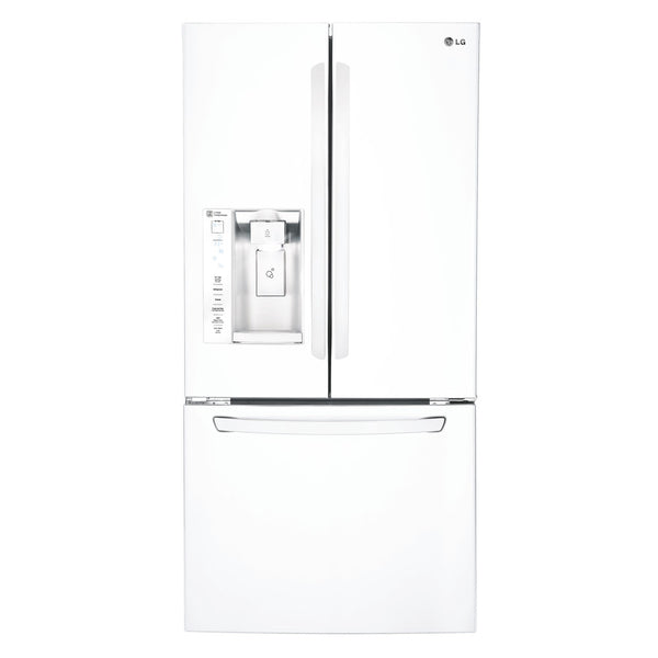 "Refrigerator - French Door/Bottom Freezer 32-33"" Wide White - Ice through door"