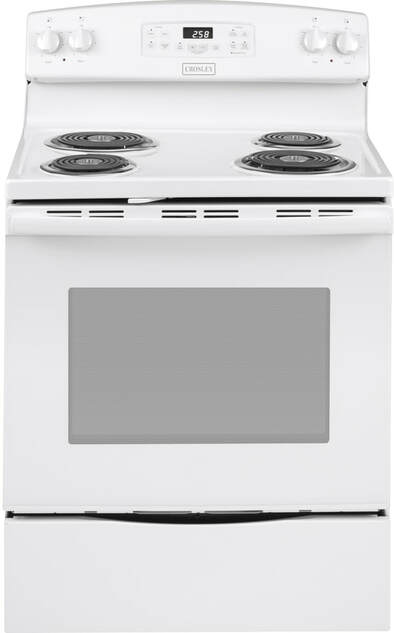 "Crosley 5.3 30"" Electric Range, White"