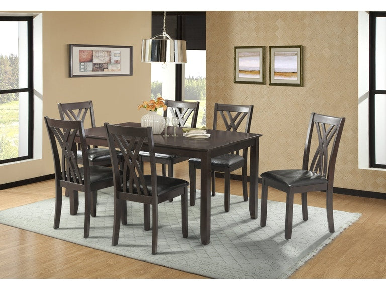 Bannister Dining Table Set w/4 chairs