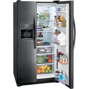 Frigidaire 25.5 cu ft Side by Side Refrigerator in Black Stainless Steel