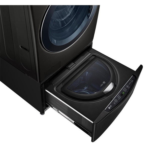 LG Sidekick 1 cu ft 27 in Pedestal Washer (Black Steel)