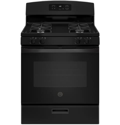 "*NEW* GE 30"" 4.8 Cu.F.t. Gas Range- Black"