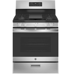 "GE 30"" 5.0 Cu.Ft. Gas Stove-Stainless Steel"