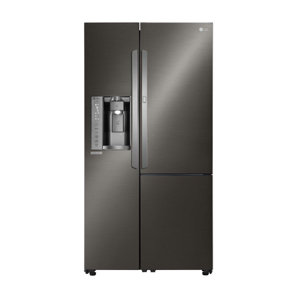 LG 26.1 cu ft Door in Door Refrigerator Black Stainless Steel