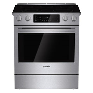 Bosch 800 Series 30 in. 4.6 cu. ft. Slide-In Radiant Electric Range with Self-Cleaning