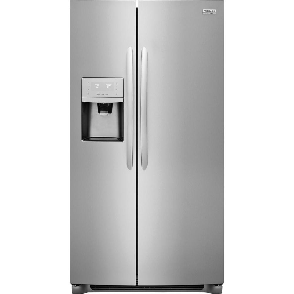 Frigidaire Gallery 25.6-cu ft Side-by-Side Refrigerator Stainless Steel