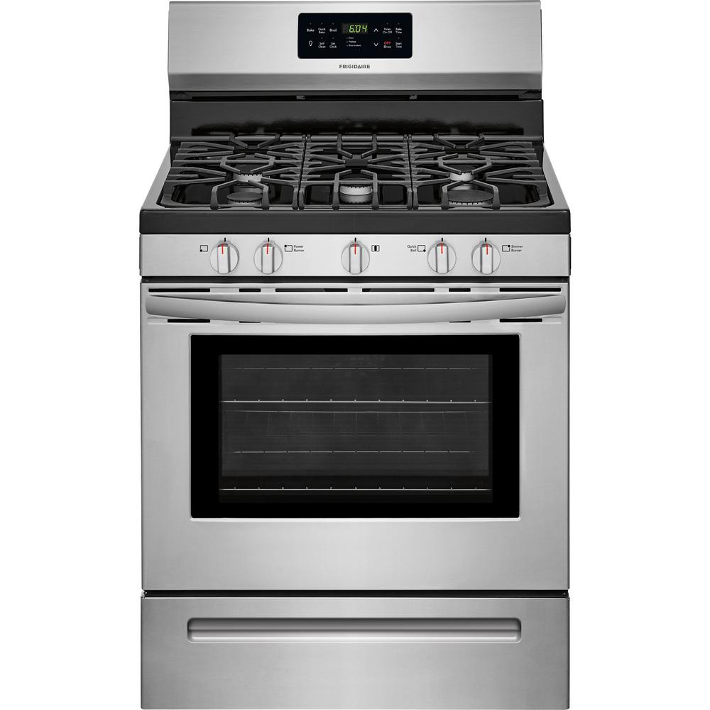 Frigidaire 30 in. 5.0 cu ft Gas Range Stainless Steel