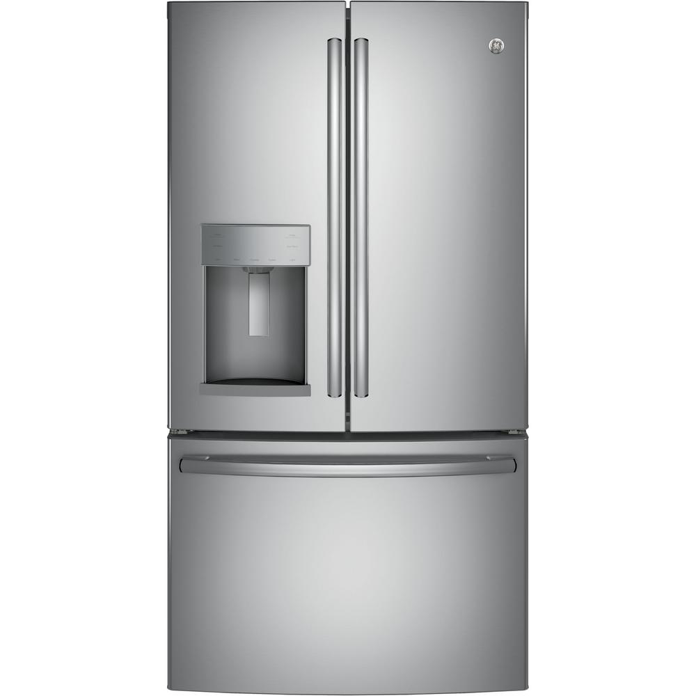 GE 27.8 cu. ft. French Door Refrigerator with Door-in-Door in Stainless Steel - Dent