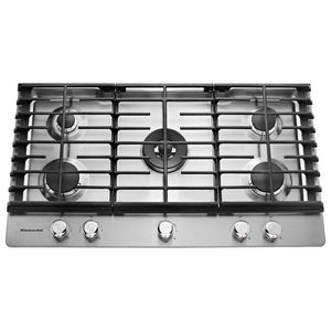 36 in. Gas Cooktop with 5 Burners Including a Professional Dual Tier Burner
