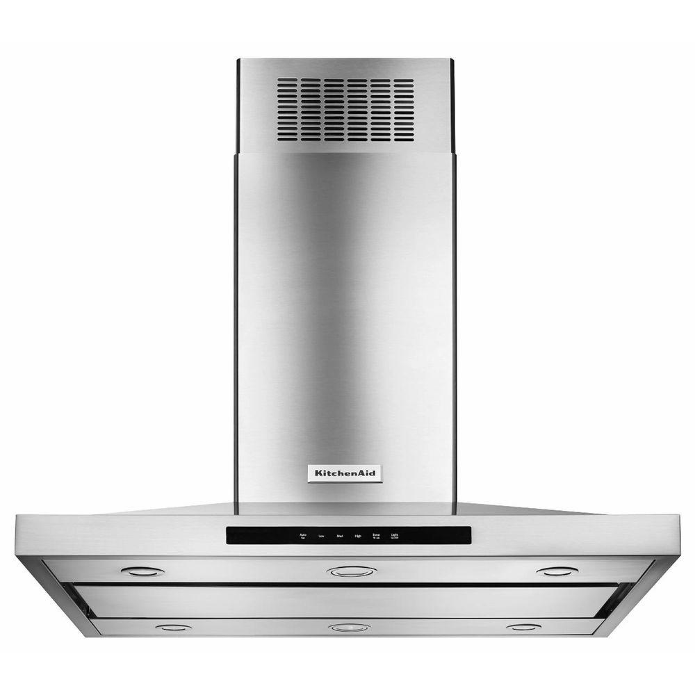 Kitchen Aid 36in Island Canopy Range Hood(Stainless steel)