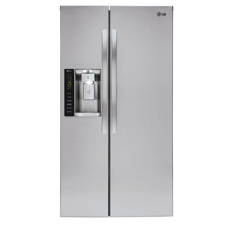 LG 26.2 cu ft Side by Side Refrigerator Stainless Steel