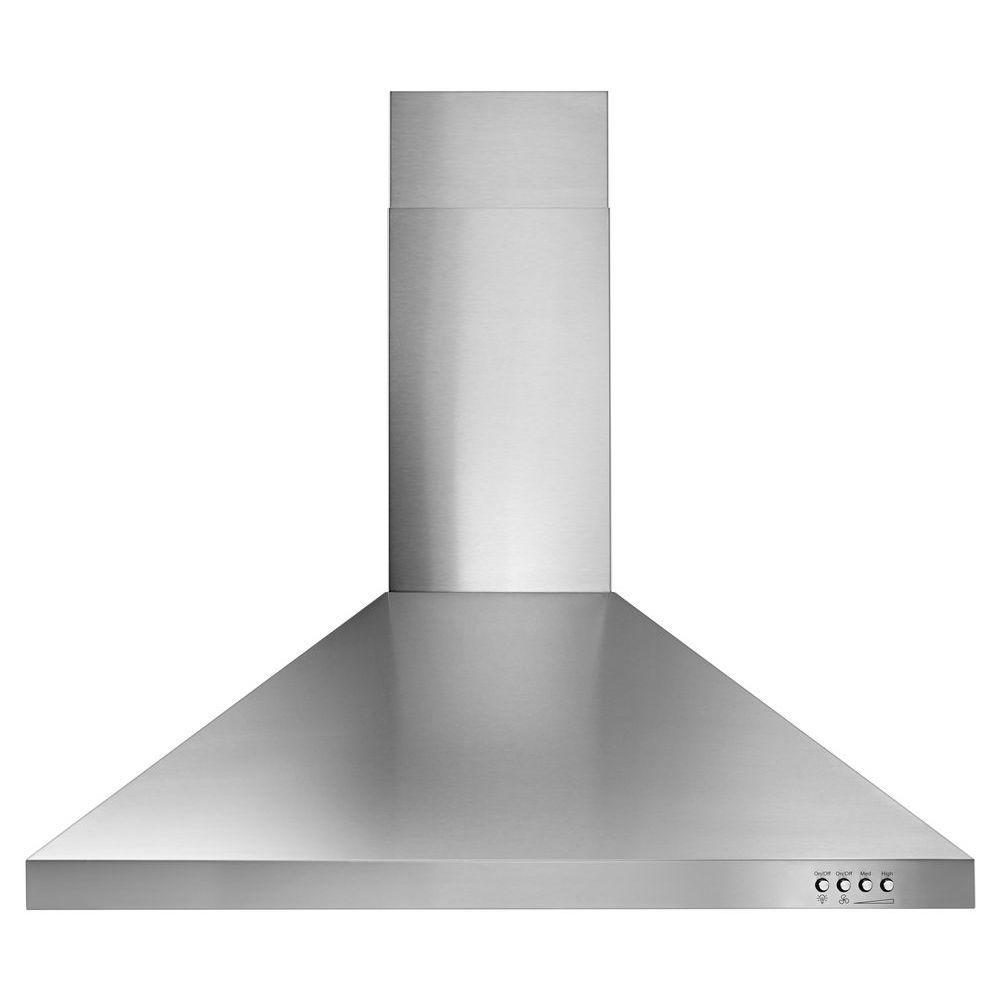 Whirlpool 30 in. Contemporary Wall Mount Range Hood in Stainless Steel