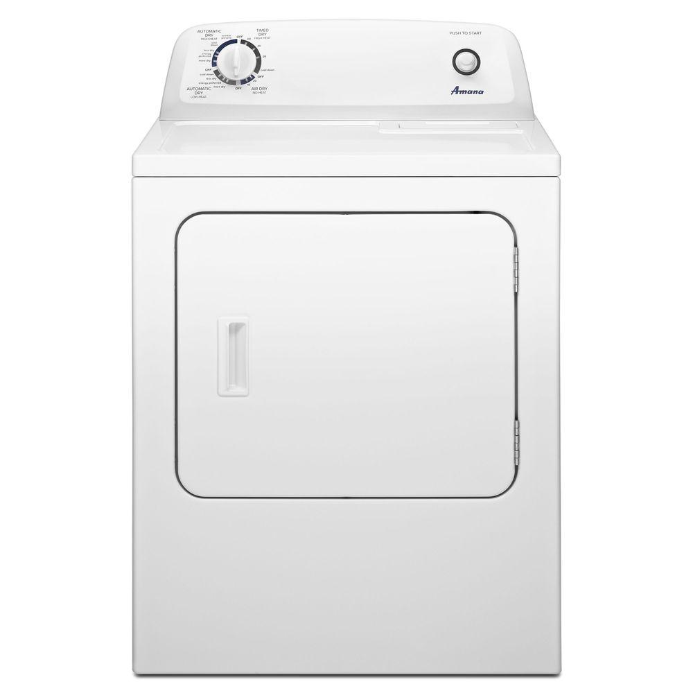 Amana 6.5 cu. ft. 240-Volt White Electric Vented Dryer