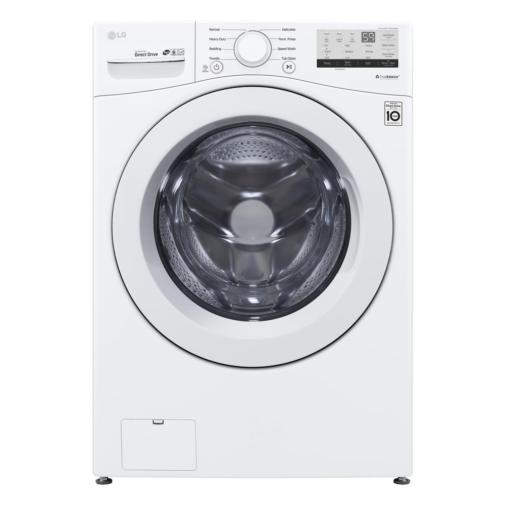 LG 4.5-cu ft Ultra Large  Front-Load Washer (White)