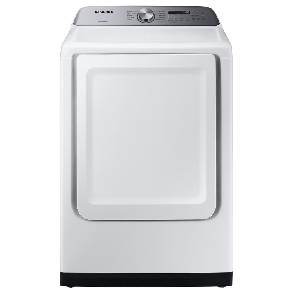 Samsung 7.4-cu ft Electric Dryer with Sensor Dry (White)