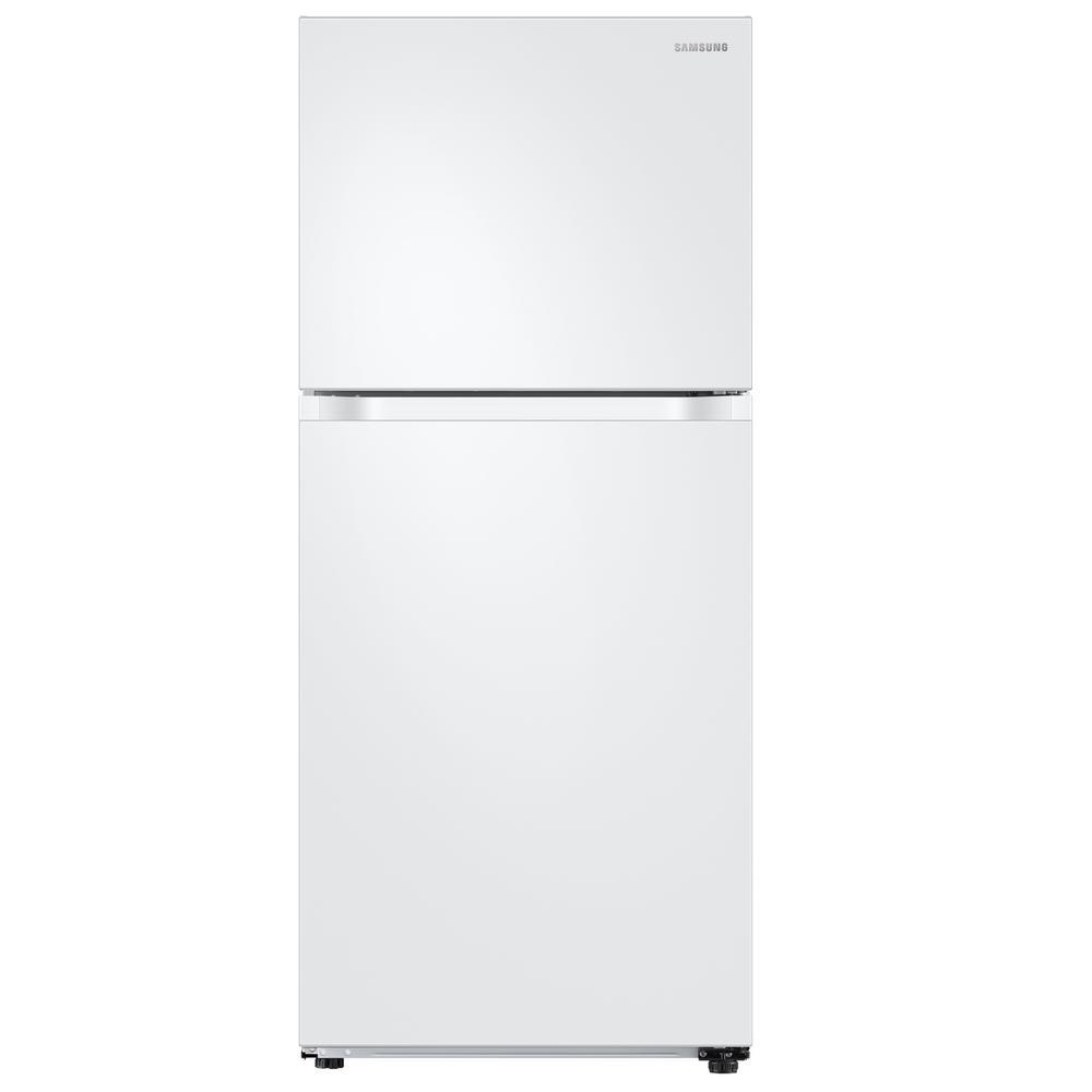 Samsung 17.6 cu ft Refrigerator w/Flex Zone Freezer White