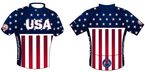 I Love Road Cycling Patriotic Men's Club Jersey