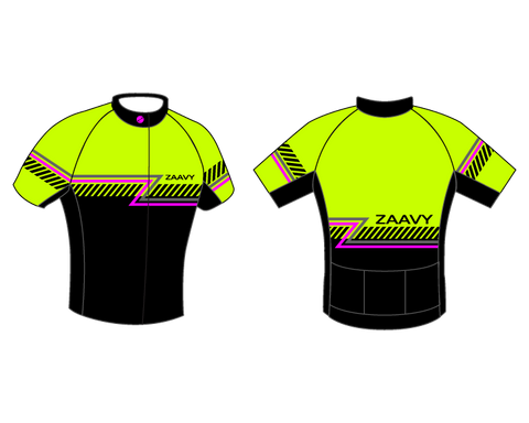 Zaavy Men's Power Fit Jersey - Hi Viz