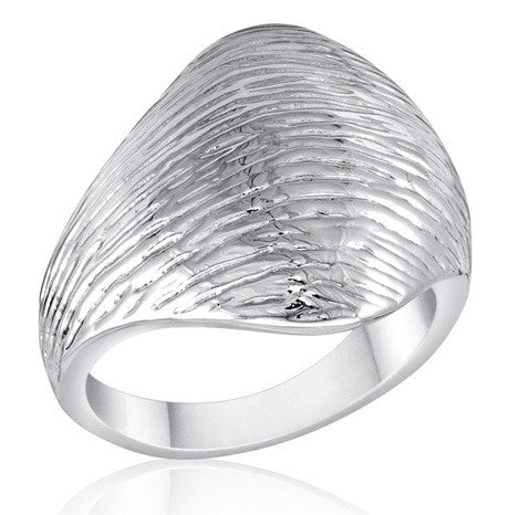 DR106-5 [Size 6-10] - Ring,  Brushed Silver