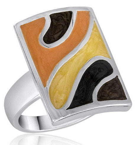 DR83-7 [Size 6-10] - Ring, Brown/Yellow/Peach