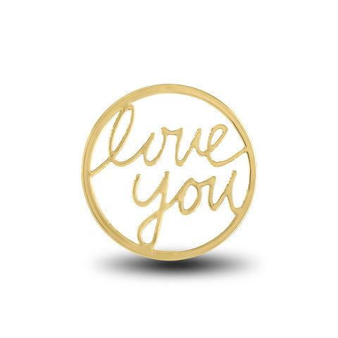 "FH Disk, ""Love You"" Gold, Set/2"