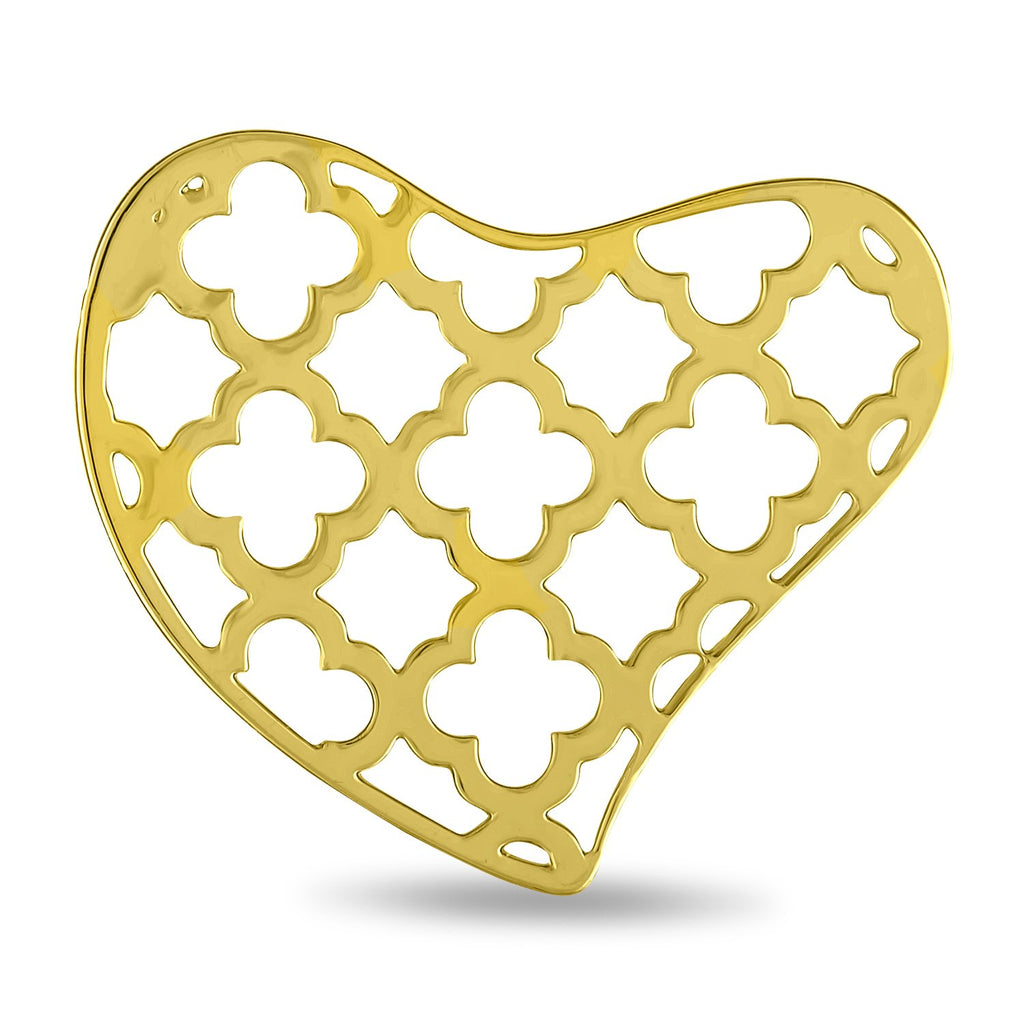 FH Disk, Gold Heart Decorative, Set/2