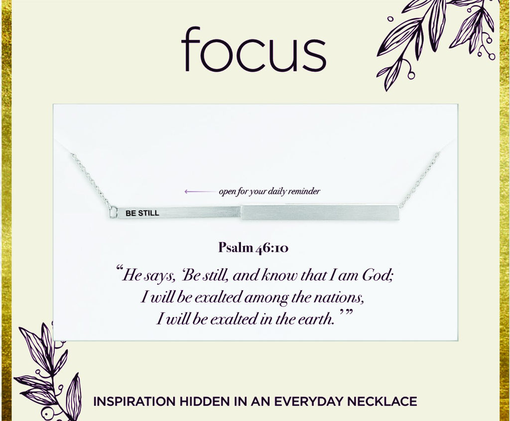 "FOC 30 ""Be Still"" Silver Focus Necklace"