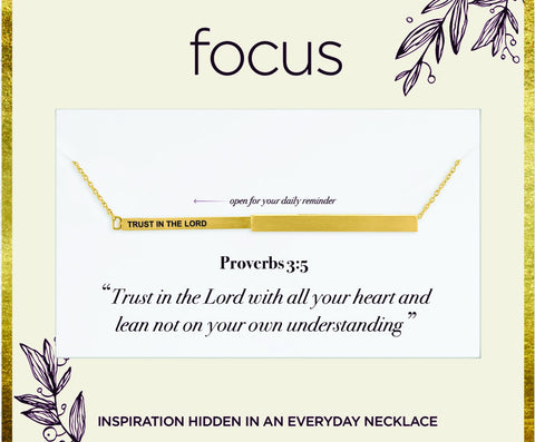 "FOC 29 ""Trust In The Lord"" Gold Focus Necklace"