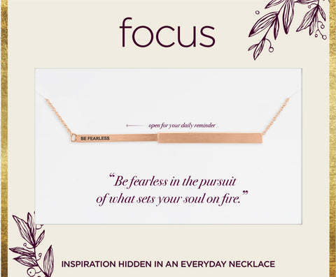 "FOC02 ""Be Fearless"" Rose Gold Focus Necklace"