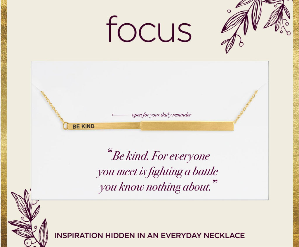 "FOC03 ""Be Kind"" Gold Focus Necklace"