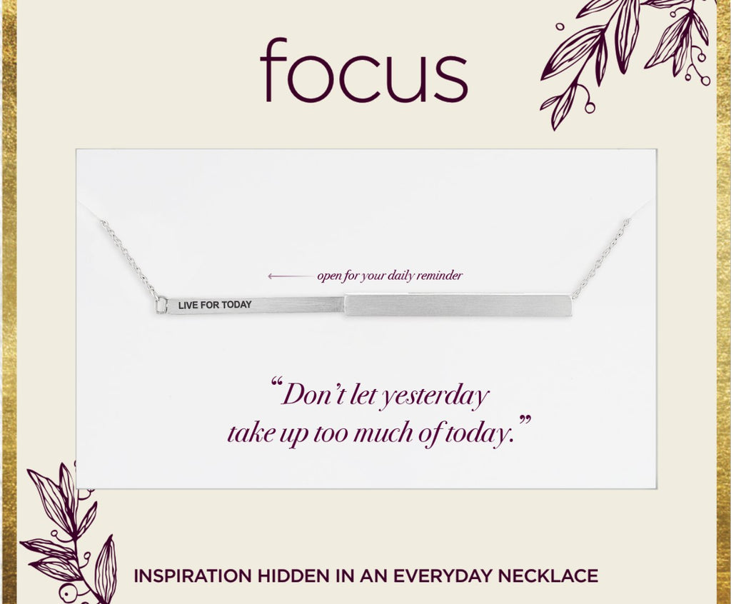 "FOC13 ""Live For Today"" Silver Focus Necklace"