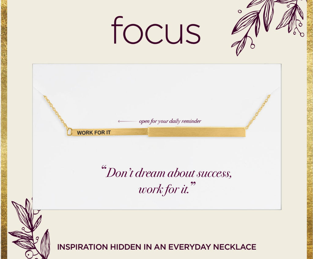 "FOC18 ""Work For It"" Gold Focus Necklace"