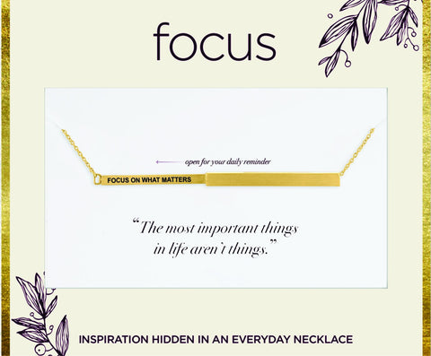 "FOC 22 ""Focus on What Matters"", Gold Focus Necklace"